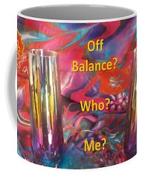 Coffee Mug featuring the photograph Off Balance? Who? Me? by Nancy Ayanna Wyatt
