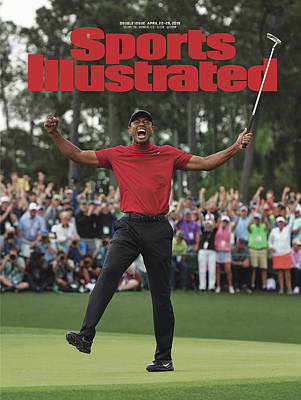 Tiger Woods, 2019 Masters Tournament Champion Sports Illustrated Cover Poster