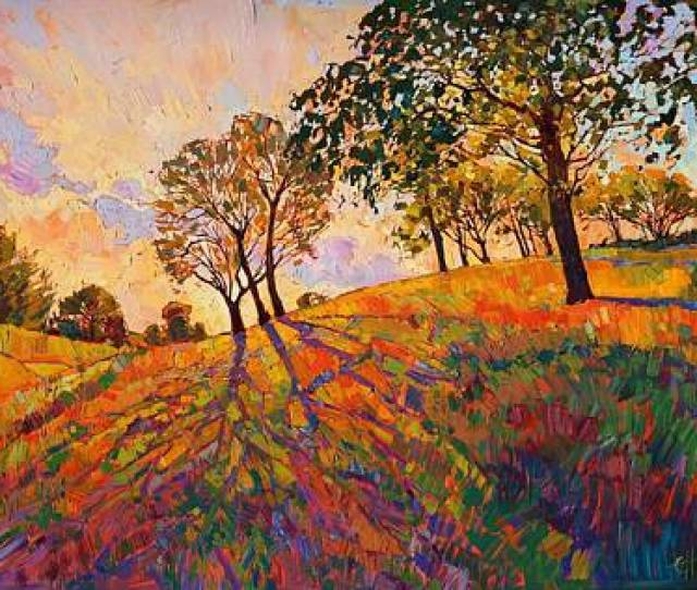 Landscape Wall Art Painting Crystal Hills By Erin Hanson