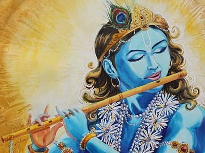 Krishna Peacock Paintings Page 2 Of 4 Fine Art America