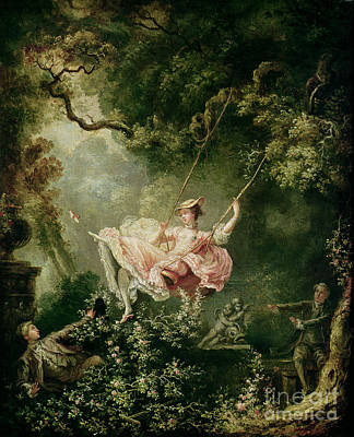 Rococo Paintings   Fine Art America Rococo Painting   The Swing by Jean Honore Fragonard