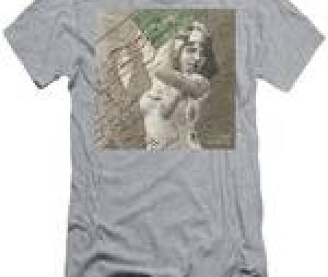 Naughty Vintage French Postcard Mens T Shirt Athletic Fit
