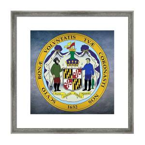 The Great Seal Of The State Of Maryland Framed Print By Movie Poster Prints