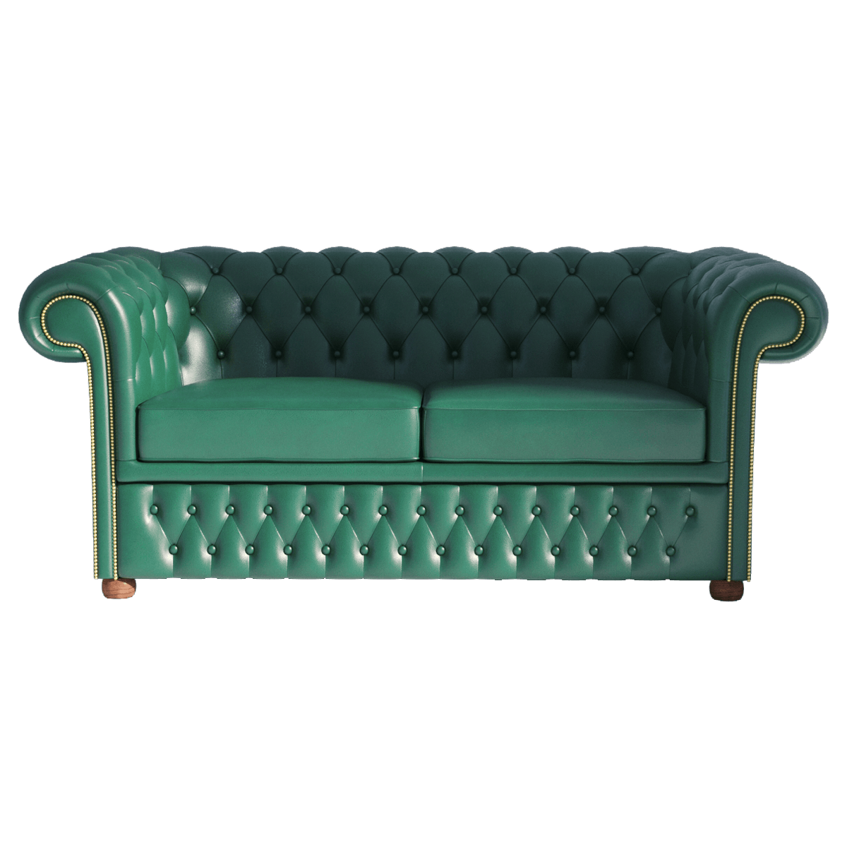 - Chesterfield Sofa 2 Green Renderee 3D