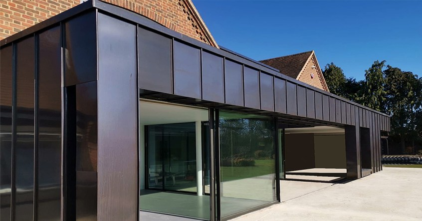 fully zinc clad extension