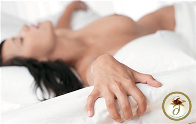 Lubricación sexual con aceite de coco