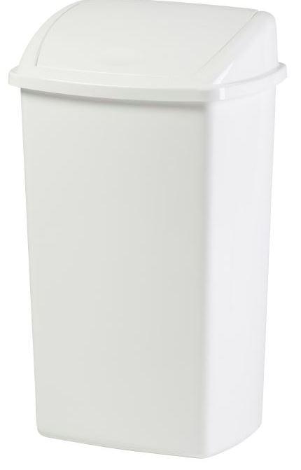 Affaldsspand 50 L firkantet m/vippelåg