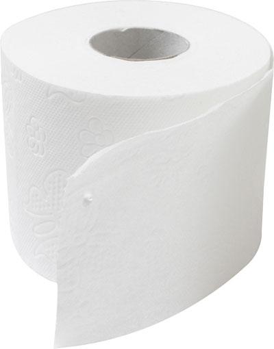 Toiletpapir 2-lag, nyfibre, 56 rl, 2.464 meter