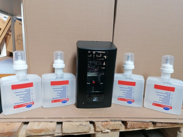 Diversey Intellicare touchfree dispenser plus 4 x 1,3 l hånddesinfektion