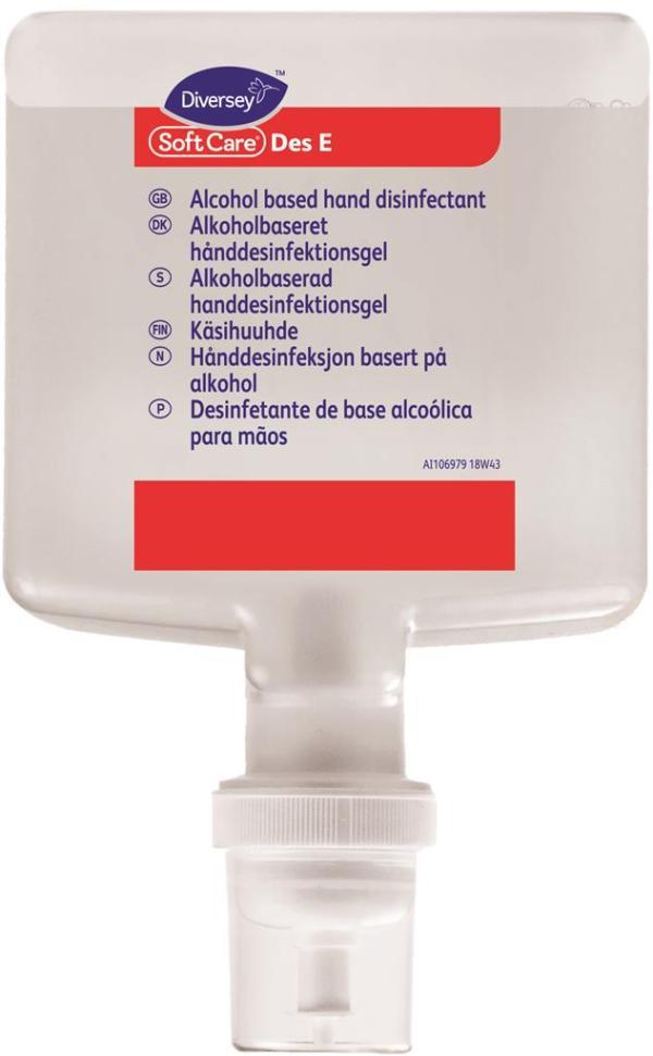 Hånddesinfektion Des E, 1,3 liter, til dispenser
