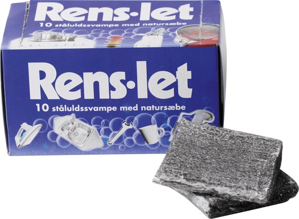 Stålsvampe Rens-let 10 stk