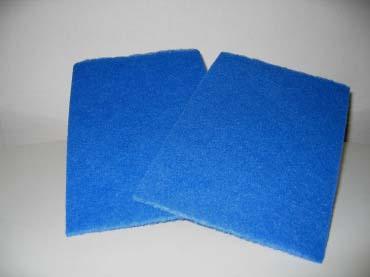 Håndskurenylon 16x21 cm mellemfin, blå