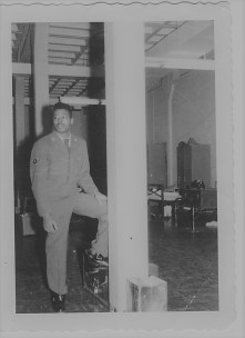 Renee Ashley Baker's Brother James in USAF Barracks 1960