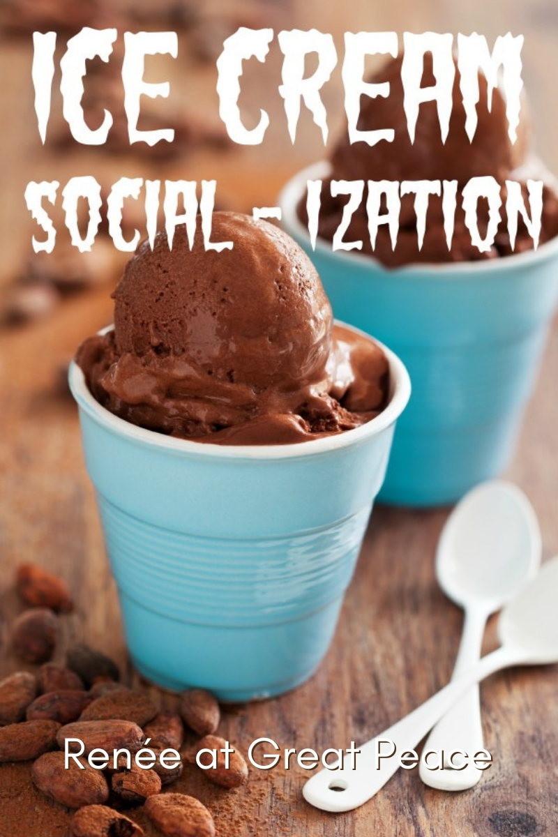 Ice Cream Socialization in Homeschool | Renée at Great Peace #homeschool #socialization #ihsnet