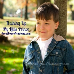 Training up my little prince. | Great Peace Academy
