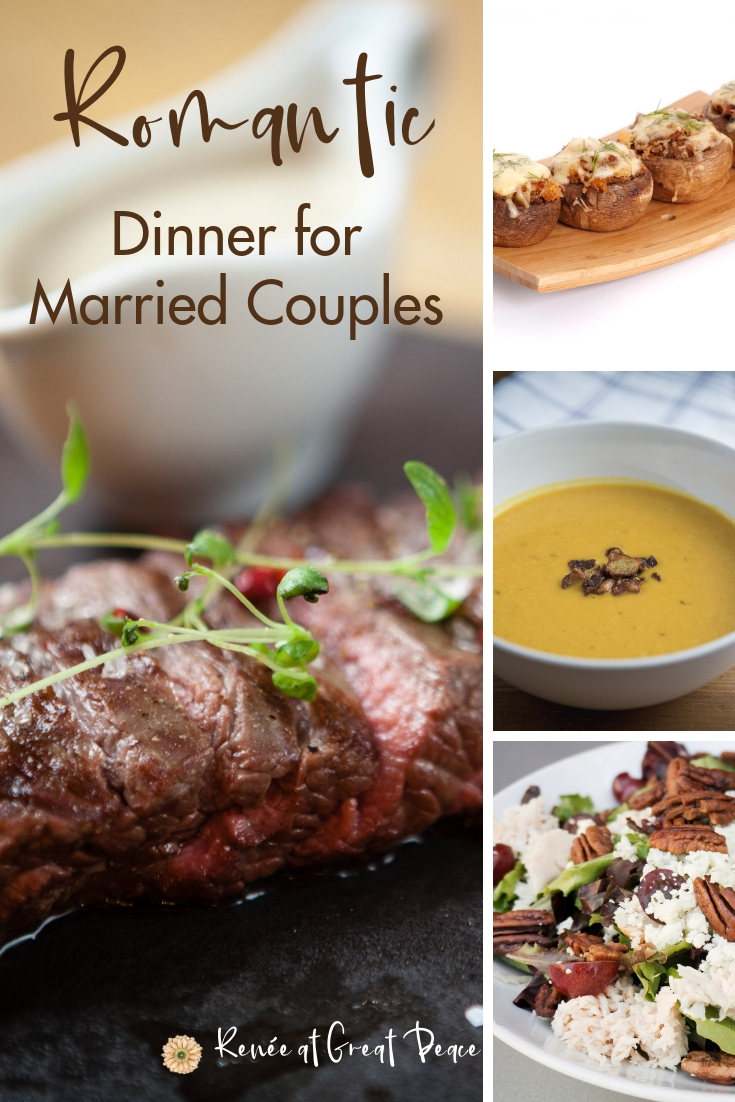 Romantic Dinner for Married Couples at Home   Renée at Great Peace #marriagemoments #romanticdinner #dinnerathome #romanceathome #datenight #ihsnet