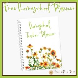 Get Your Free Homeschool Planner   Renée at Great Peace #ihsnet #homeschool