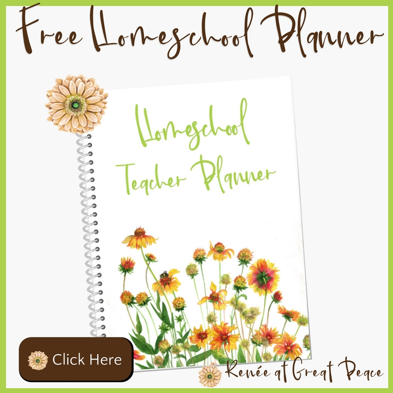 Get Your Free Homeschool Planner | Renée at Great Peace #ihsnet #homeschool