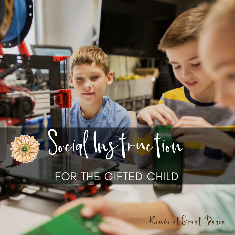 Social Instruction for the Gifted Child | Renée at Great Peace #gtchat #gifted #ihsnet #homeschool