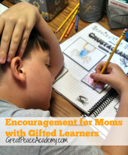 Encouragement for Moms with Gifted Children | GreatPeaceAcademy.com #ihsnet