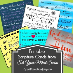 Free Scripture Card Printables | Great Peace Academy