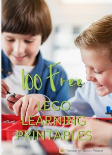100 FREE LEGO Learning Printables | Renée at Great Peace #LEGO #