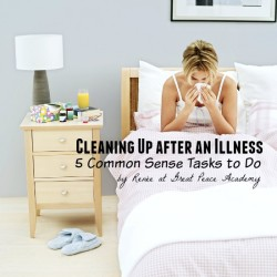 Cleaning up after an illness, 5 Tasks to do. | Great Peace Academy