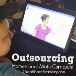 Outsourcing homeschool math curriculum using online learning environment Unlock Math. | Great Peace Academy