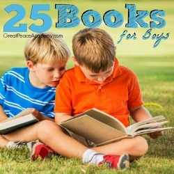 25 Books for Boys List | Great Peace Academy