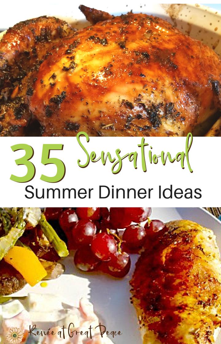 35 Sensational Summer Dinner Ideas   Renée at Great Peace #mealplanning #summerdinner #family