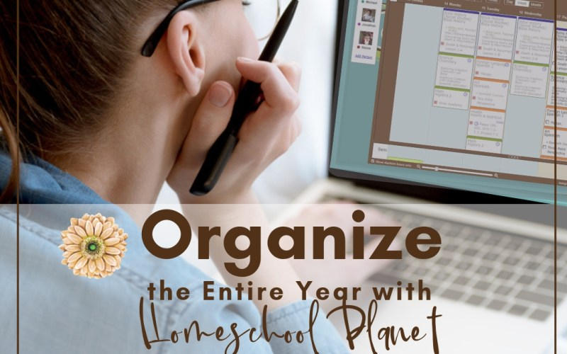 Organize the Entire Year with an Amazing Online Homeschool Planner from Homeschool Planet | Renée at Great Peace #homeschool #ihsnet #planner #organizer