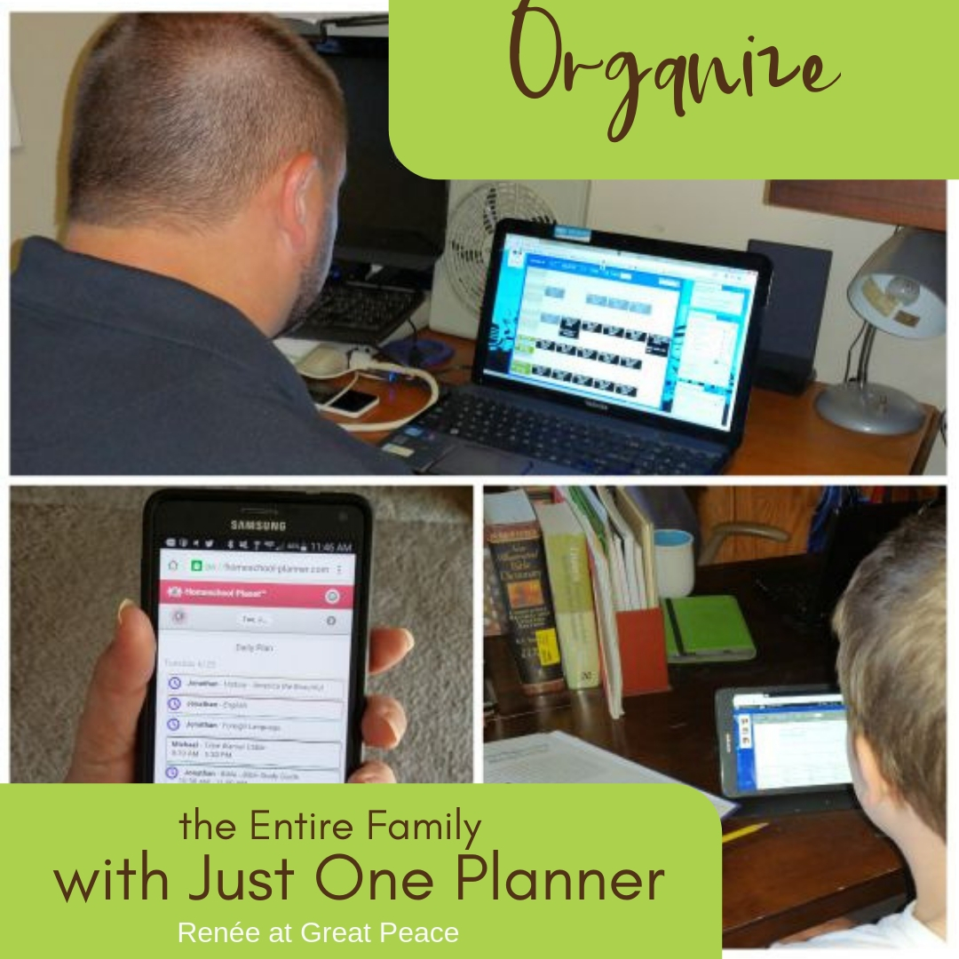 Organize the Entire Year with an Amazing Online Homeschool Planner from Homeschool Planet   Renée at Great Peace #homeschool #ihsnet #planner #organizer