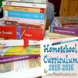Homeschool Curriculum 2015-2016 at Great Peace Academy