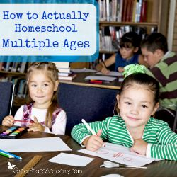 How to Homeschool multiple ages with expert advice | Great Peace Academy