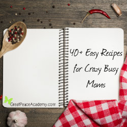 Easy Recipes for Crazy Busy Moms   Renée at Great Peace