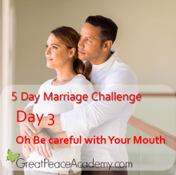 Marriage Challenge Day 3 Be Careful with Your Mouth | Great Peace Academy