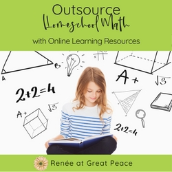 10 Resources for Outsourcing Homeschool Math Instruction | Renée at Great Peace #math #homeschooling #ihsnet