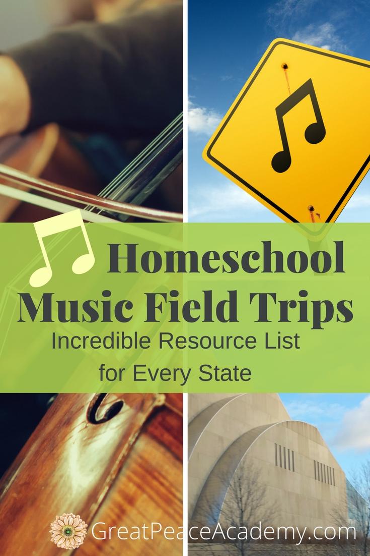 Music Field Trips for Fine Arts in Homeschool | Renée at Great Peace #homeschool #music #fieldtrips