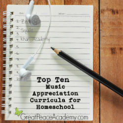 Top 10 Music Appreciation Curricula for Homeschool   Great Peace Academy #ihsnet
