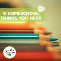 5 Homeschool Things You Need   GreatPeaceAcademy.com