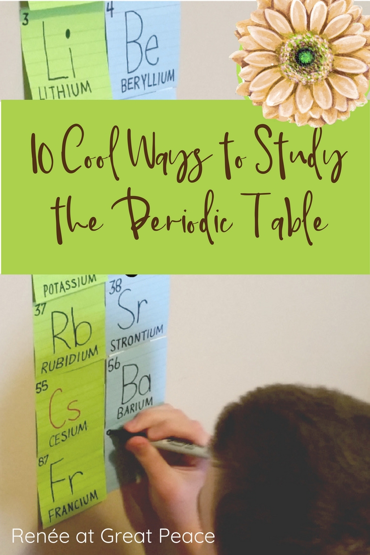 10 cool ways to study the periodic table in homeschool 10 cool ways to study the periodic table rene at great peace homeschool urtaz Gallery