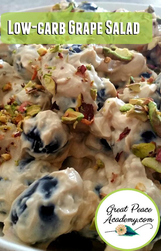 Low-Carb Grape Salad Recipe   GreatPeaceAcademy.com
