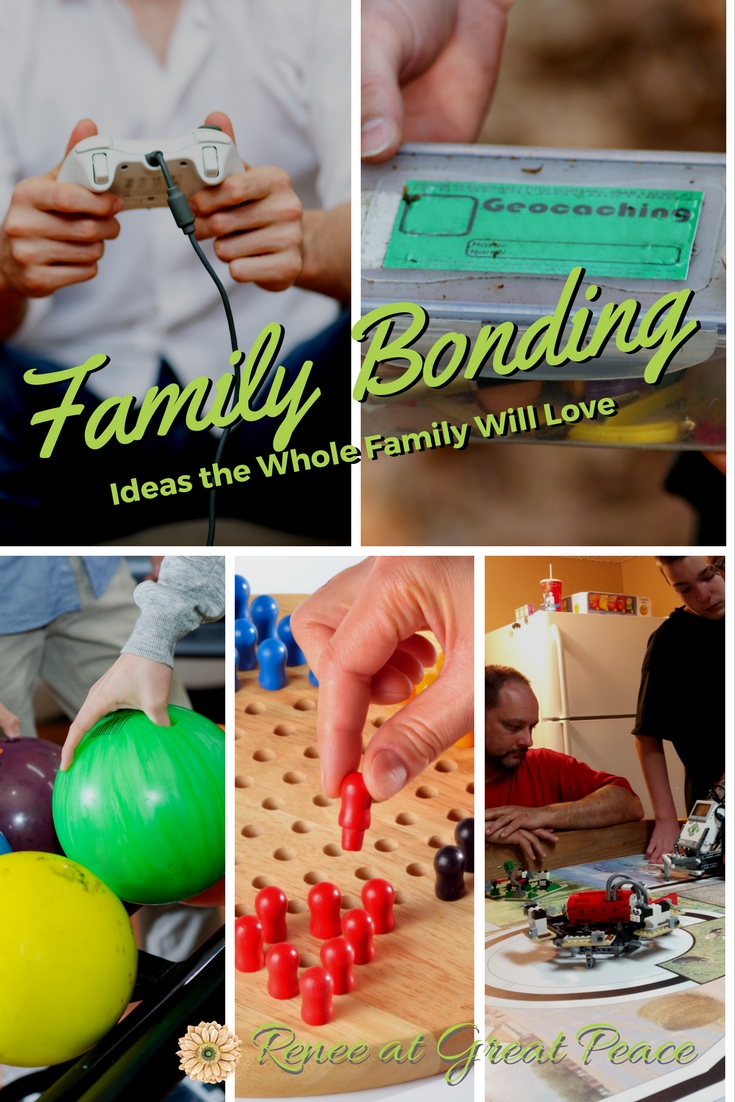 Family Bonding Time the Whole Family will Love~Want to nurture your relationships with your children? These family bonding time activities allow everyone to have fun as you build unforgettable memories. | Renée at Great Peace #ihsnet