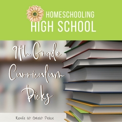 Homeschooling High School 9th Grade Curriculum Picks | Renée at Great Peace #ihsnet #homeschool