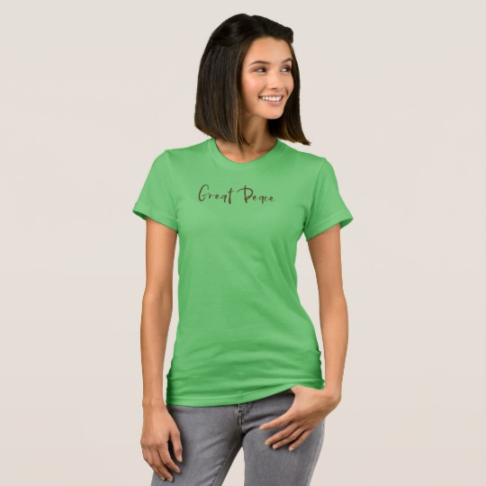 Great Peace, Green Tee | Renée at Great Peace #homeschool #ihsnet