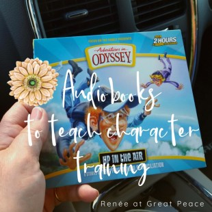 How to Use Family Audiobooks for Character Training in Young Teens | Renée at Great Peace #ihsnet #homeschool #parenting #Christian @AIO_tweets