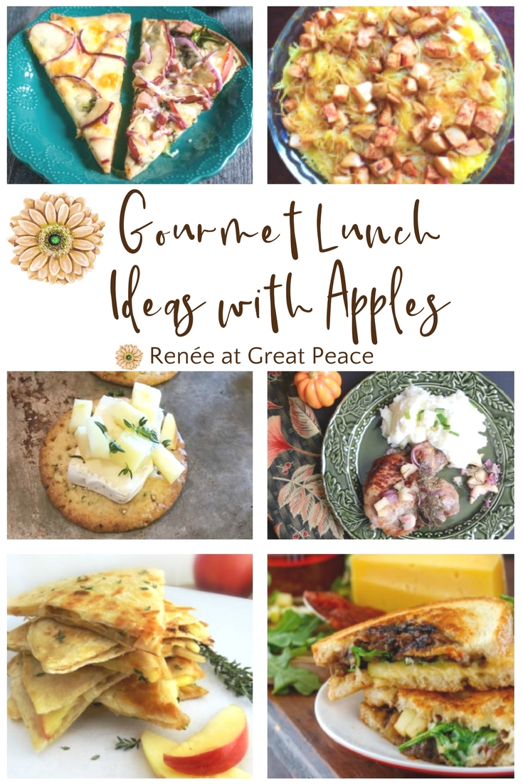 Gourmet Lunch Recipes Using Apples via Renée at Great Peace #mealplanning #lunchtime #homemaker #ihsnet