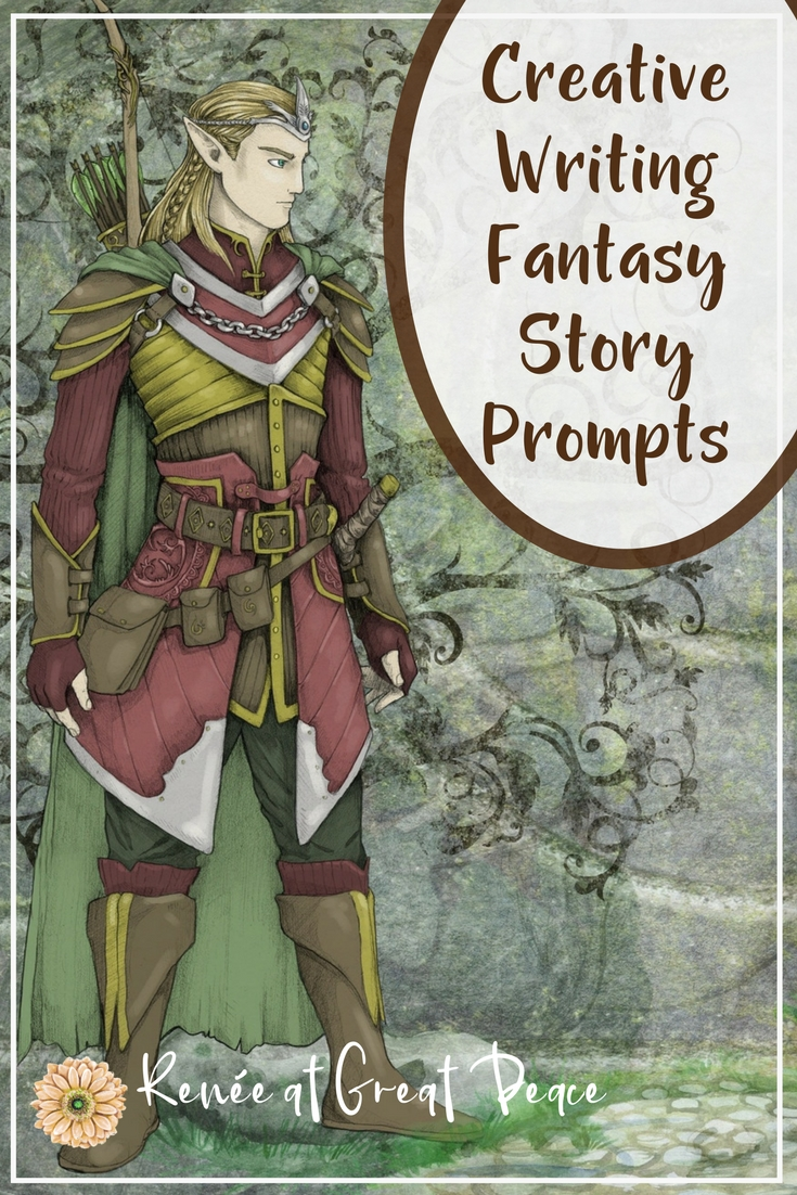 Creative Writing Fantasy Story Prompts for Homeschool | Renée at Great Peace #homeschool #creativewritng #storyprompts #ihsnet