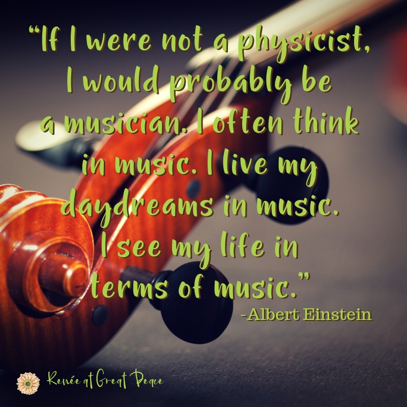Einstein Quote about being a musician - Music in Homeschool