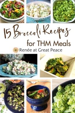 15 Broccoli Recipes for Trim Healthy Mamas   Renée at Great Peace #mealplanning #Trimhealthymama #recipes #broccoli